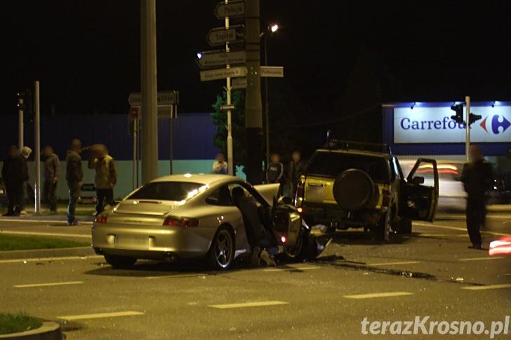 Krosno: Zderzenie trzech samochodów