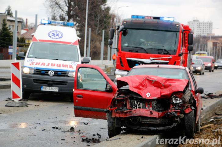 Wypadek na ul. Podkarpackiej w Krośnie