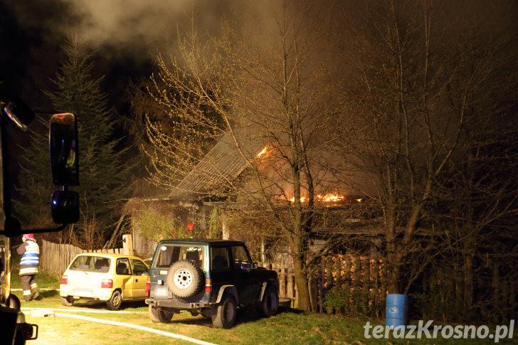 Pożar domu w Wietrznie