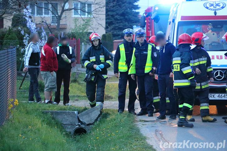 Wypadek na ul. Kruczkowskiego w Krośnie