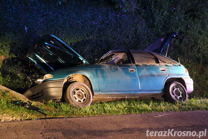 Opel wjechał do rowu