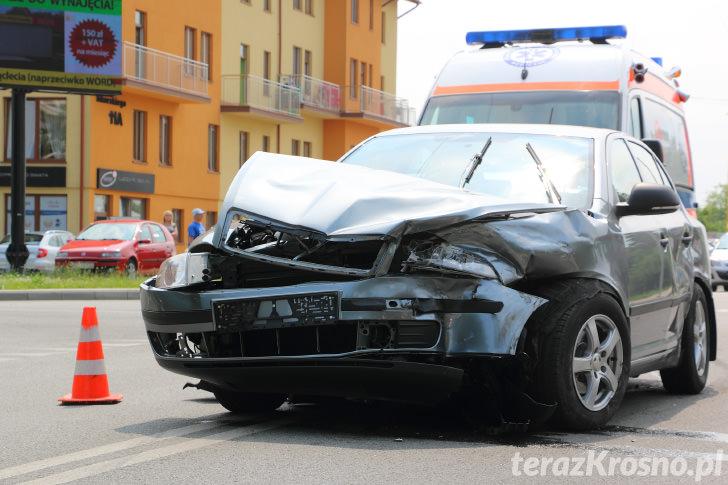 Wypadek w Krośnie na skrz. Hallera - Wieniawskiego - Sikorskiego