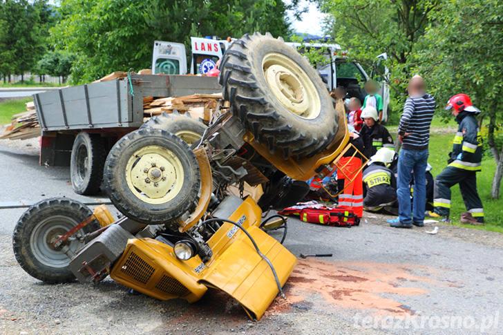 Wypadek w Głojscach, ciągnik przygniótł mężczyznę