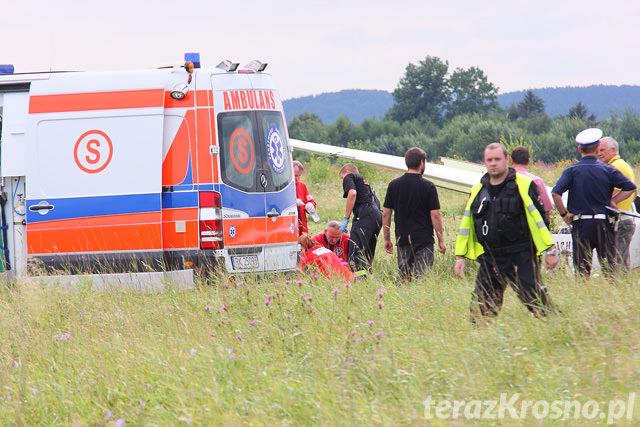 Wypadek szybowca w Krośnie