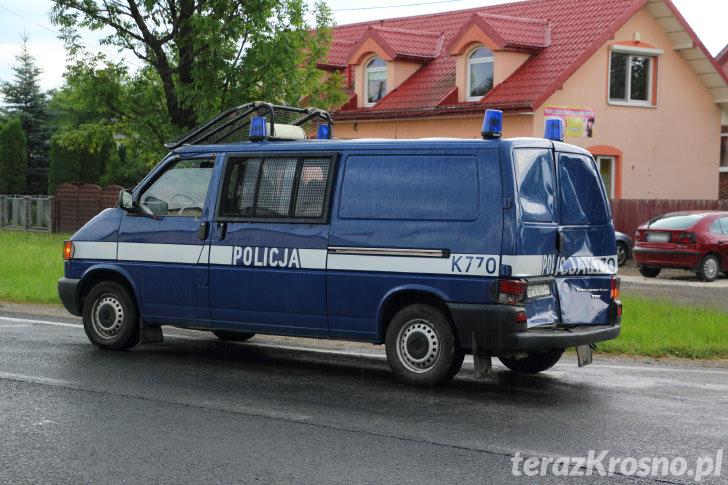 Łężany - Kolizja z udziałem policyjnego radiowozu