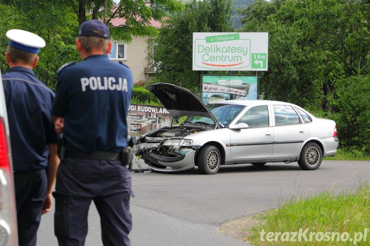 Zderzenie dwóch samochodów w Odrzykoniu