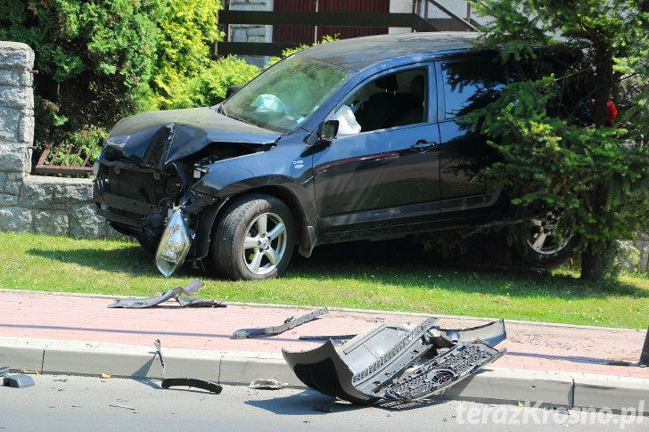 Wypadek na ul. Okrzei w Krośnie