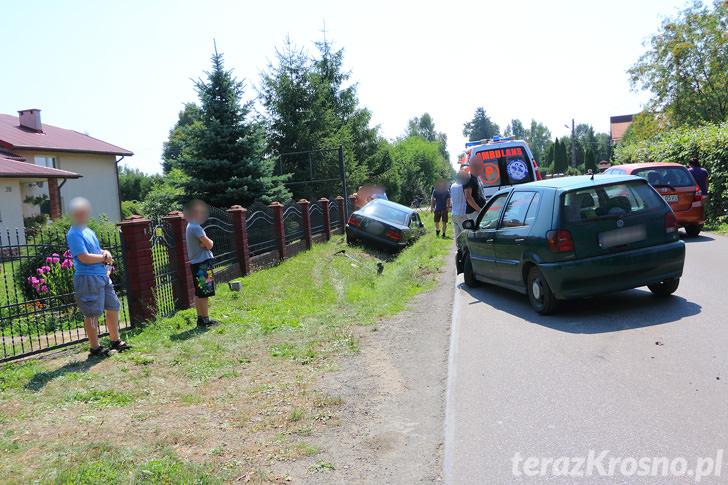 Zderzenie dwóch samochodów w Zręcinie