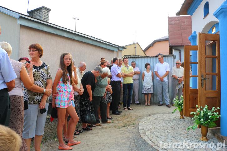 Poświęcenie odnowionej kapliczki św. Jana Nepomucena w Zręcinie