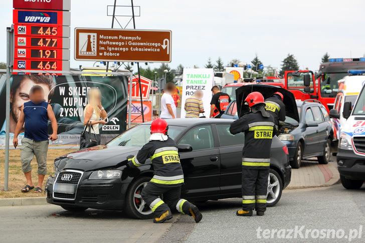 Wypadek na ul. Zręcińskiej w Krośnie