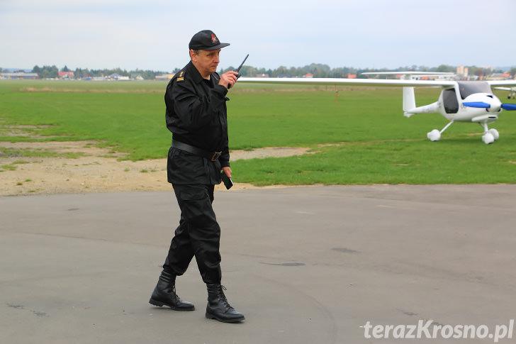 Ćwiczenia służb na krośnieńskim lotnisku