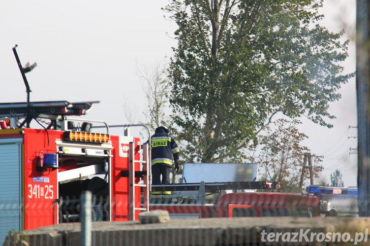 Pożar w Zręcinie w zakładzie produkującym brykiet