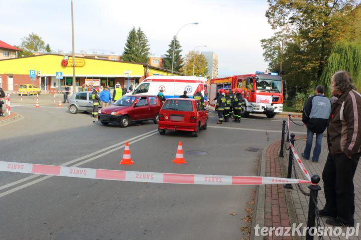 Wypadek w Krośnie. Kursantka w szpitalu