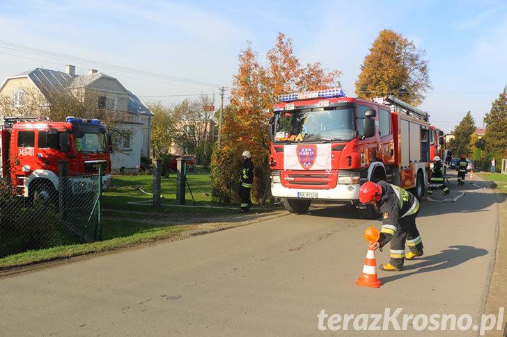 Pożar domu w Świerzowej Polskiej
