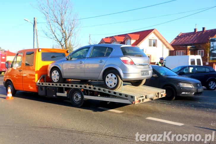 Kolizja w Łężanach, zderzenie trzech samochodów