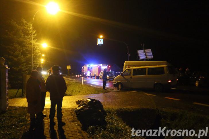 Zderzenie dwóch samochodów w Iwoniczu