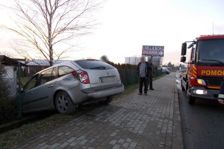 Kolizja na ul. Podkarpackiej w Krośnie