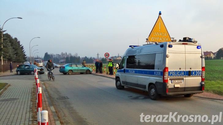 Wypadek w Korczynie na ul. Fredry