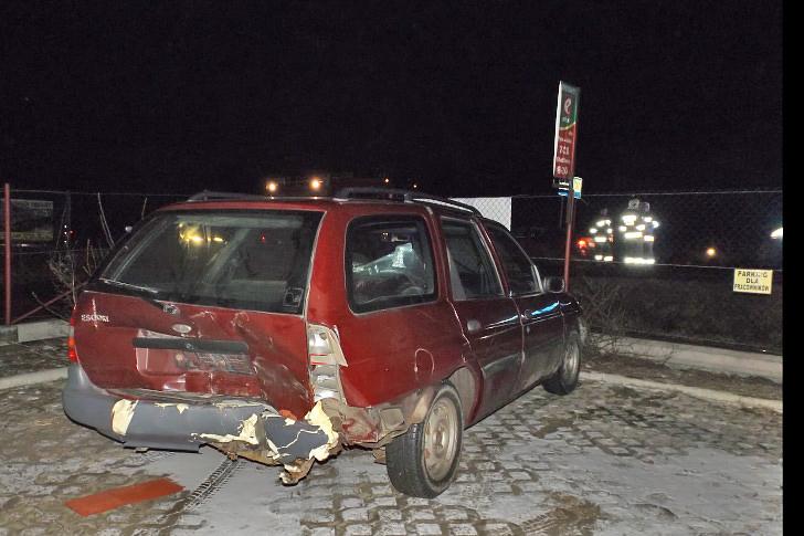 Zderzenie trzech samochodów w Rymanowie