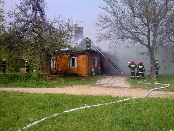 Pożar domu w Sulistrowej