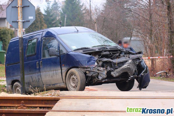 Zderzenie szynobusa z samochodem osobowym