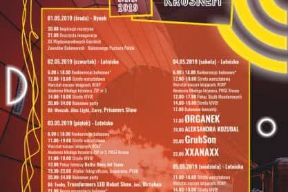 Balony nad Krosnem 2019 - Program