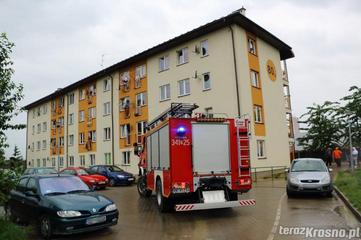 Pożar Popiełuszki w Krośnie