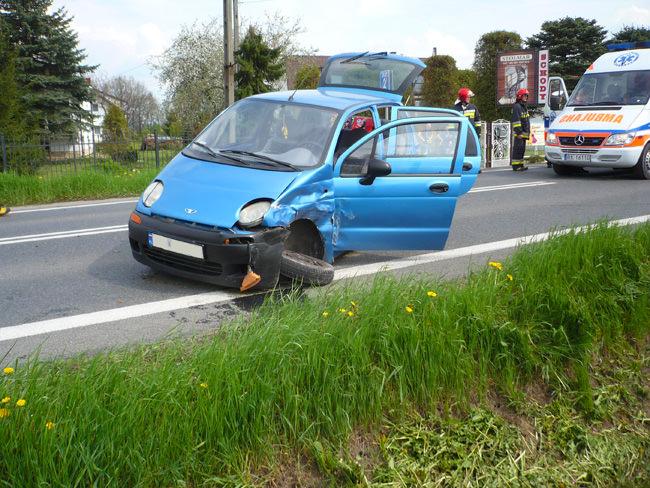 Wypadek na Rzeszowskiej w Krośnie