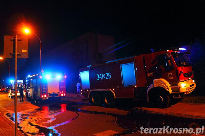 Pożar na Mickiewicza w Krośnie