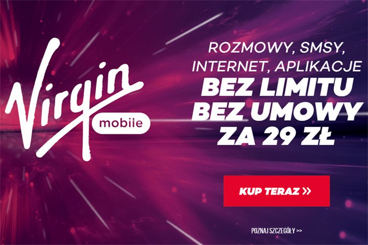Virgin Mobile - BezLimitu za 29zł